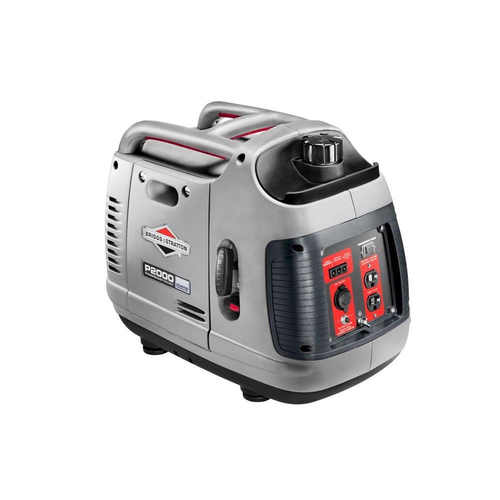 Briggs & Stratton PowerSmart Series 2,000-Watt Gasoline Powered Portable Inverter Generator