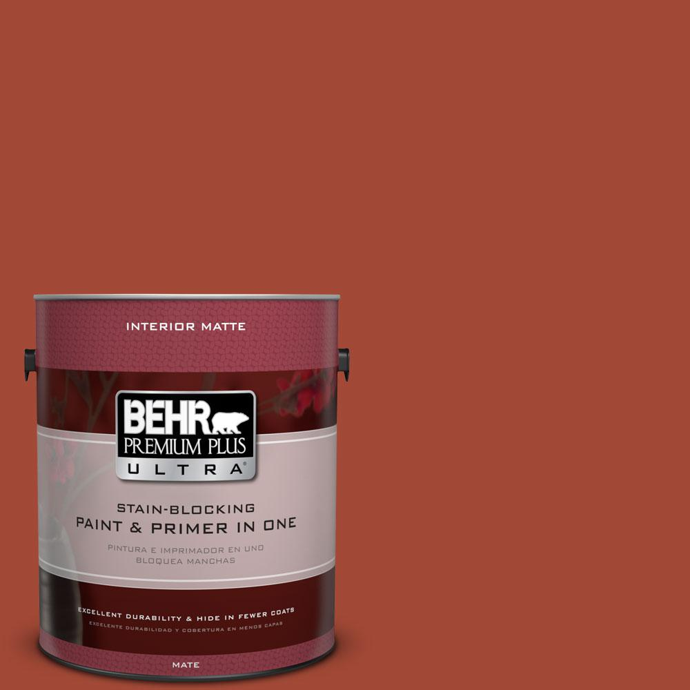 1 gal. #200D-7 Rodeo Red Matte Interior Paint and Primer in