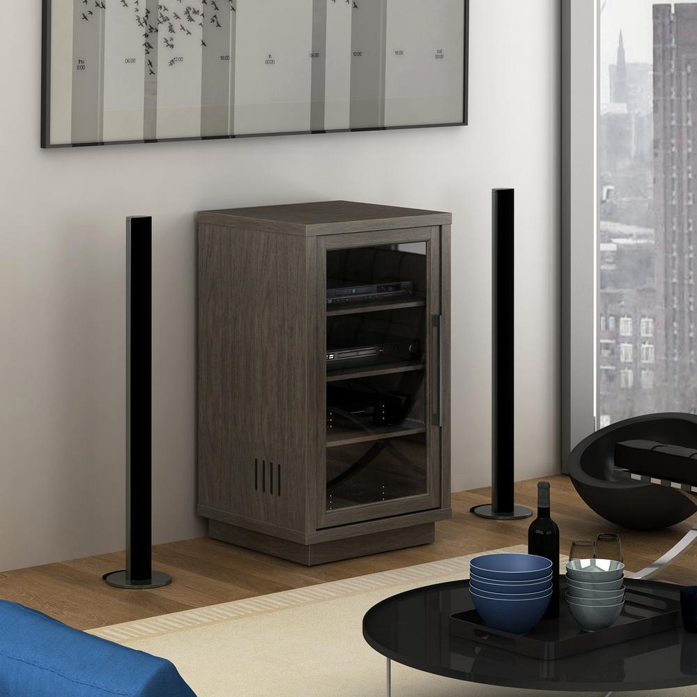 Arbordale Dark Oak Audio Video Component Cabinet
