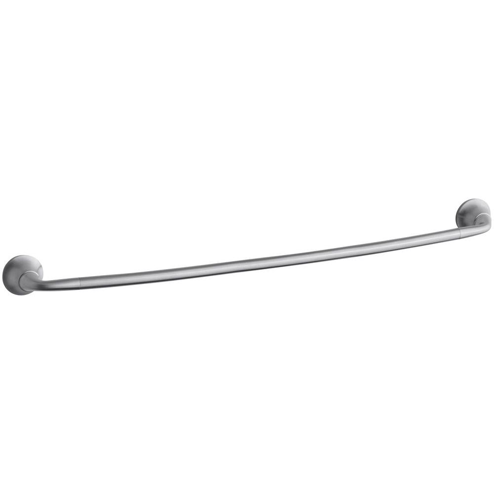 kohler forte sculpted 30 in towel bar in brushed chrome k 11372 g the home depot. Black Bedroom Furniture Sets. Home Design Ideas