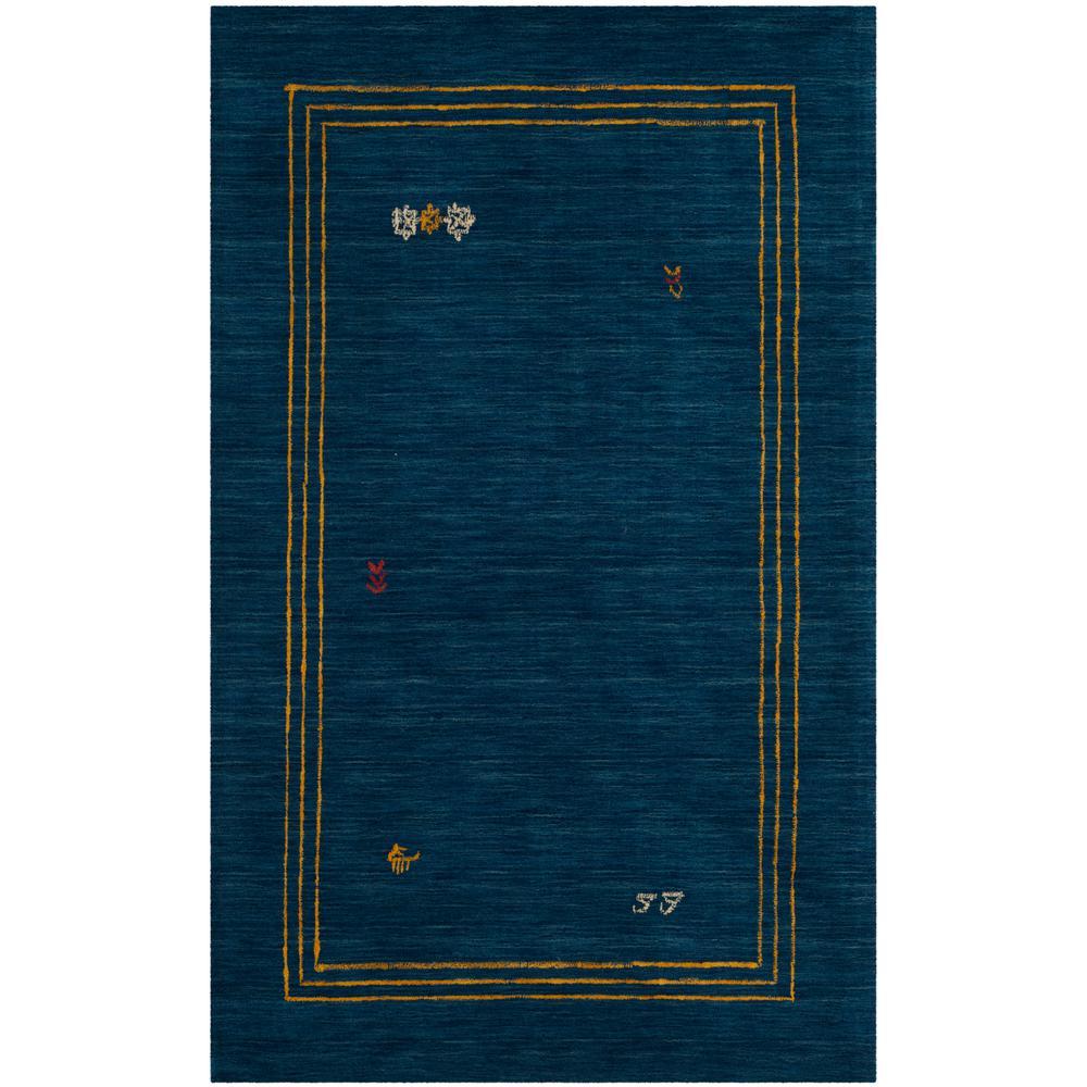 Himalaya Blue/Multi 4 ft. x 6 ft. Area Rug