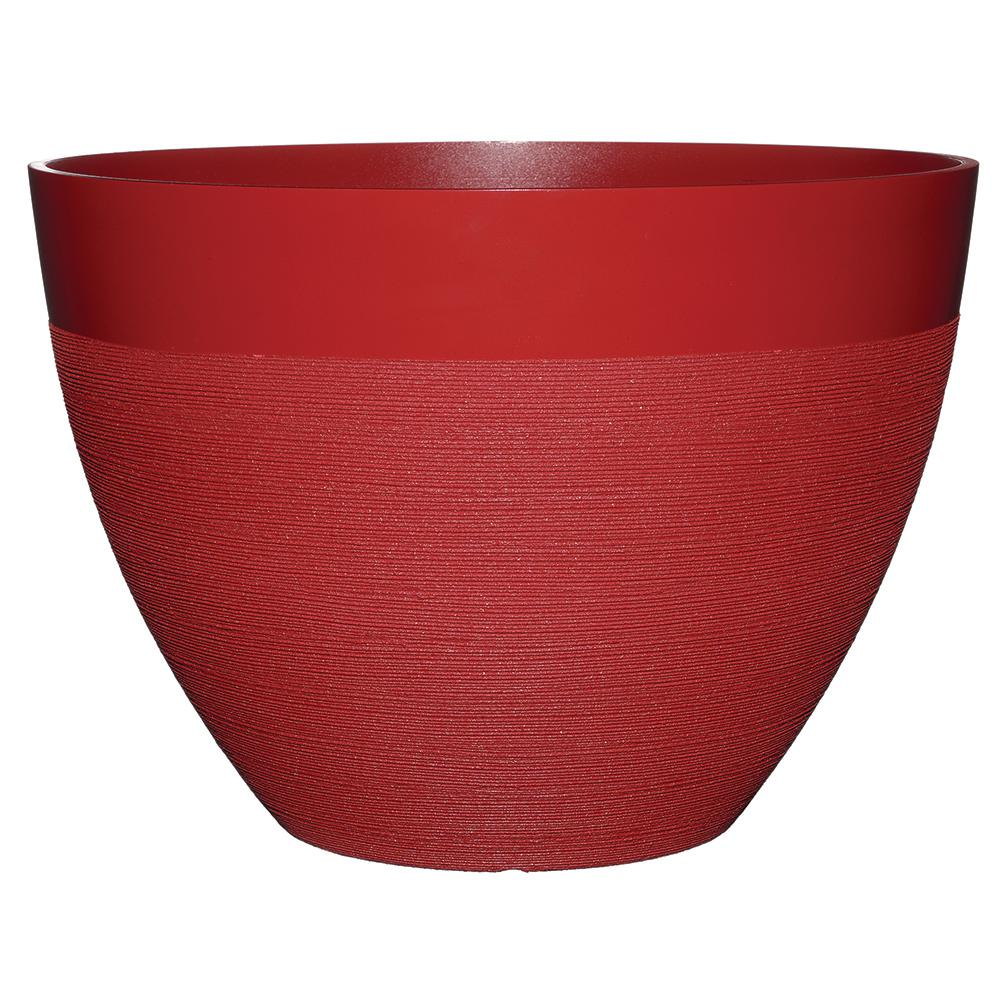Decatur 22 in. American Red Resin Planter