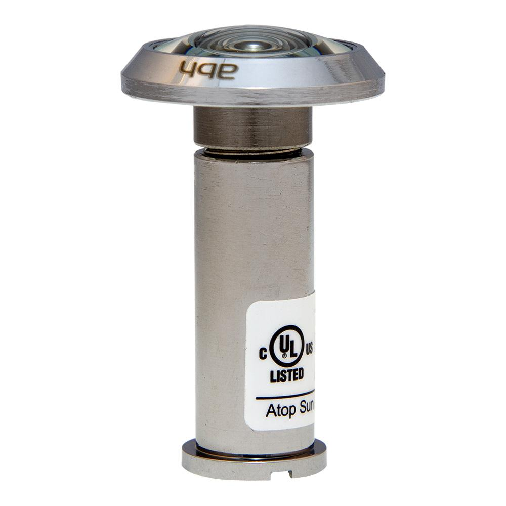 190-Degree Polished Chrome Door Viewer with Glass Lenses