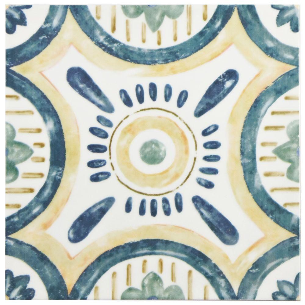 Merola tile bourges isola 7 78 in x 7 78 in ceramic wall tile merola tile bourges isola 7 78 in x 7 78 in ceramic wall tile 1076 sq ft case waebouis the home depot dailygadgetfo Choice Image