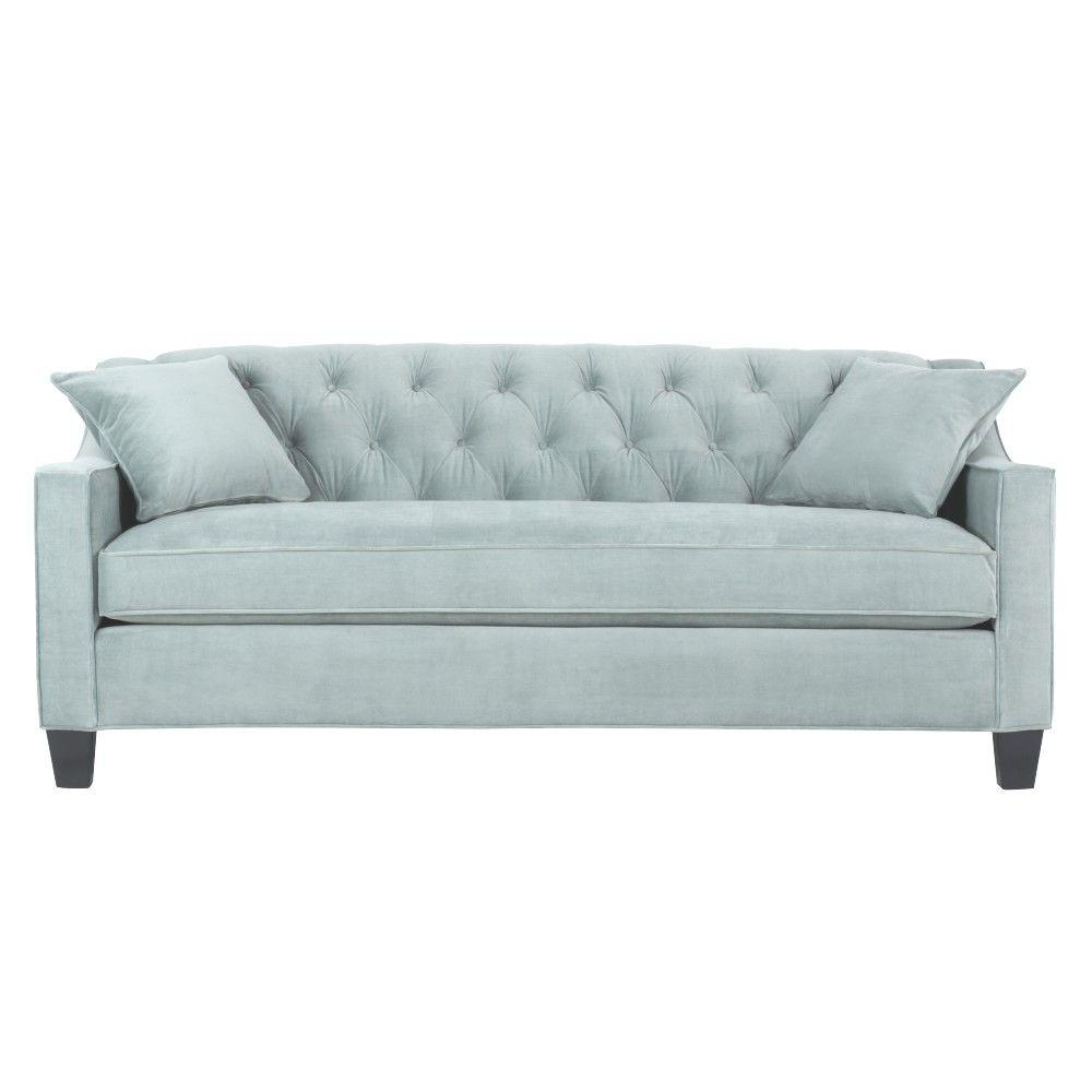 Home Decorators Collection Riemann 81.5 In. Blue Polyester Sofa