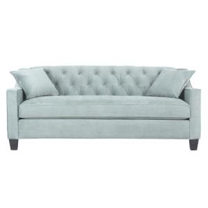 Riemann 81.5 in. Blue Polyester Sofa