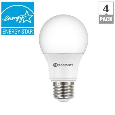40W Equivalent Soft White A19 Energy Star Dimmable LED Light Bulb (4-Pack)