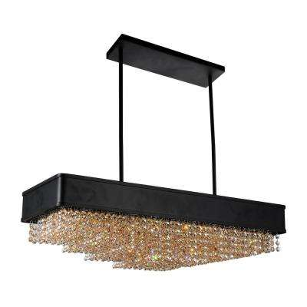 Medina 10-Light Black Chandelier