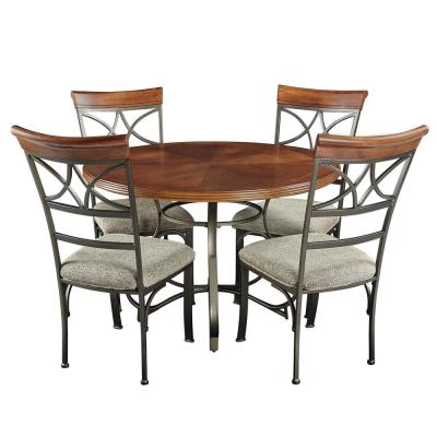 Masson 5-Piece Cherry/Pewter/Bronze Dining Set