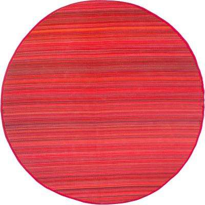 Cancun Indoor/Outdoor Sunset 8 ft. Round Area Rug