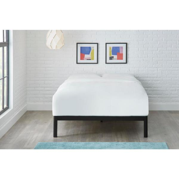 Black Metal Twin Bed Frame 39 In W X 14 In H Thd Wdslbf T The Home Depot