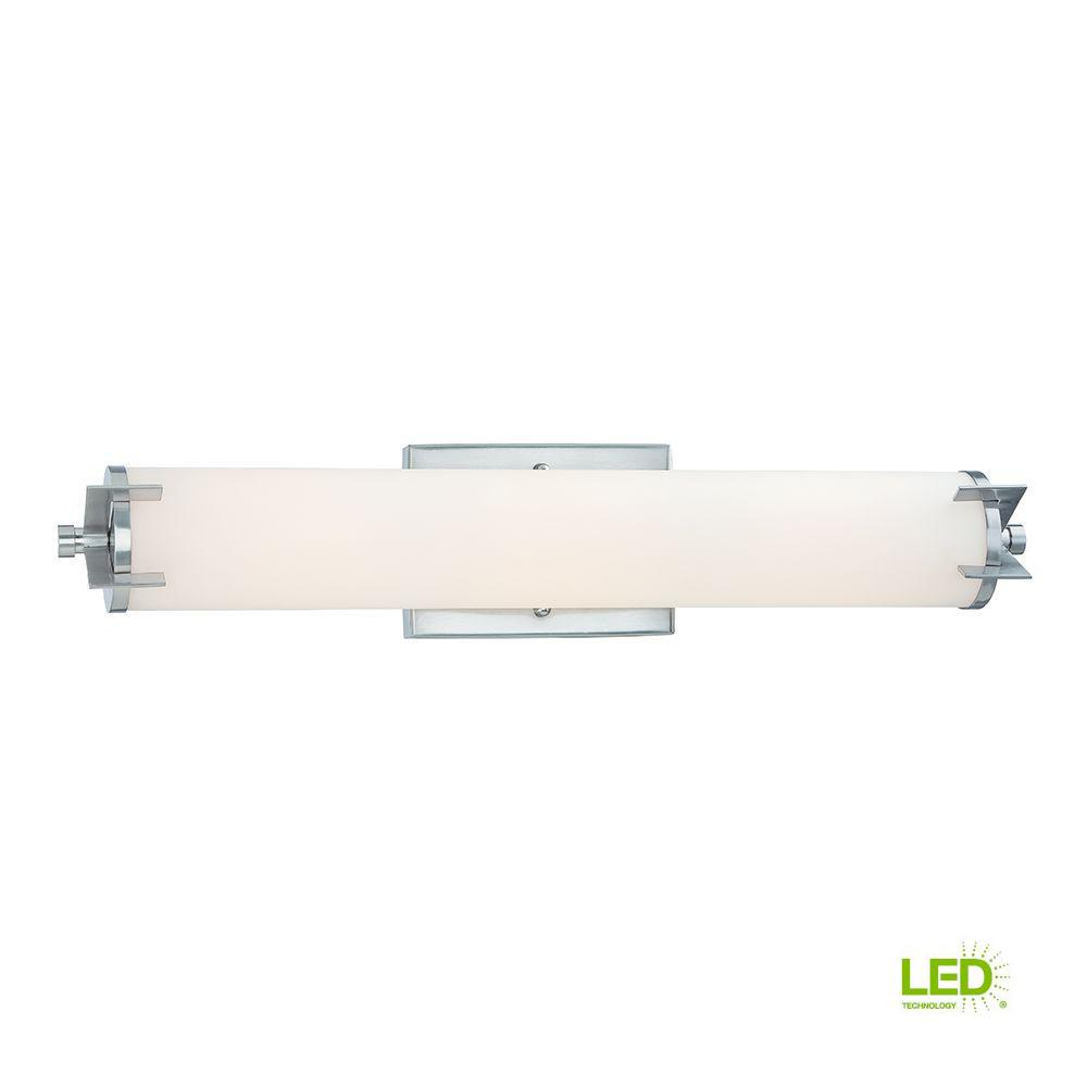 Aristo 24 in. Satin Platinum LED Bath Bar Light