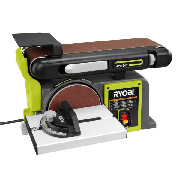 Ryobi 4 In X 36 In Belt And 6 In Disc Sander Bd4601g The Home Depot