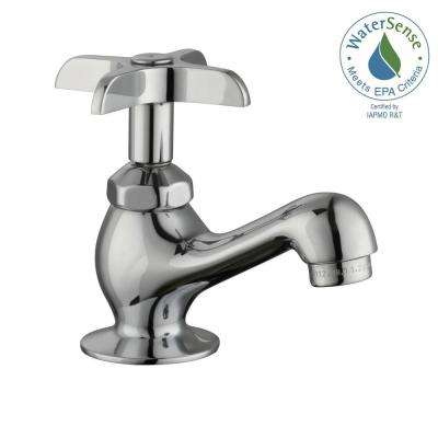 Single Hole Single-Handle Low-Arc Bathroom Faucet in Chrome