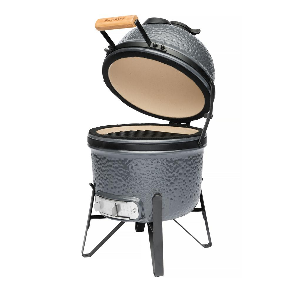 13 in. Ceramic Charcoal Grill in Blue