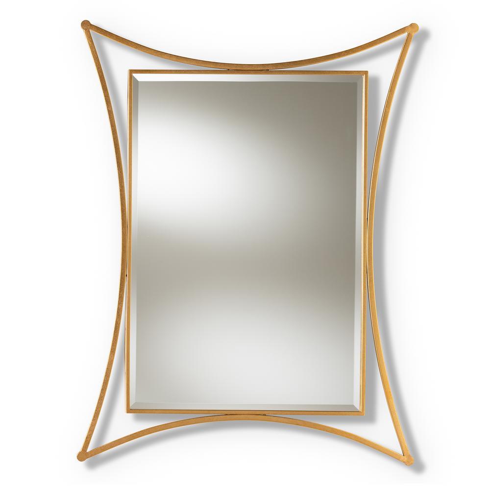 Melia Antique Gold Wall Mirror