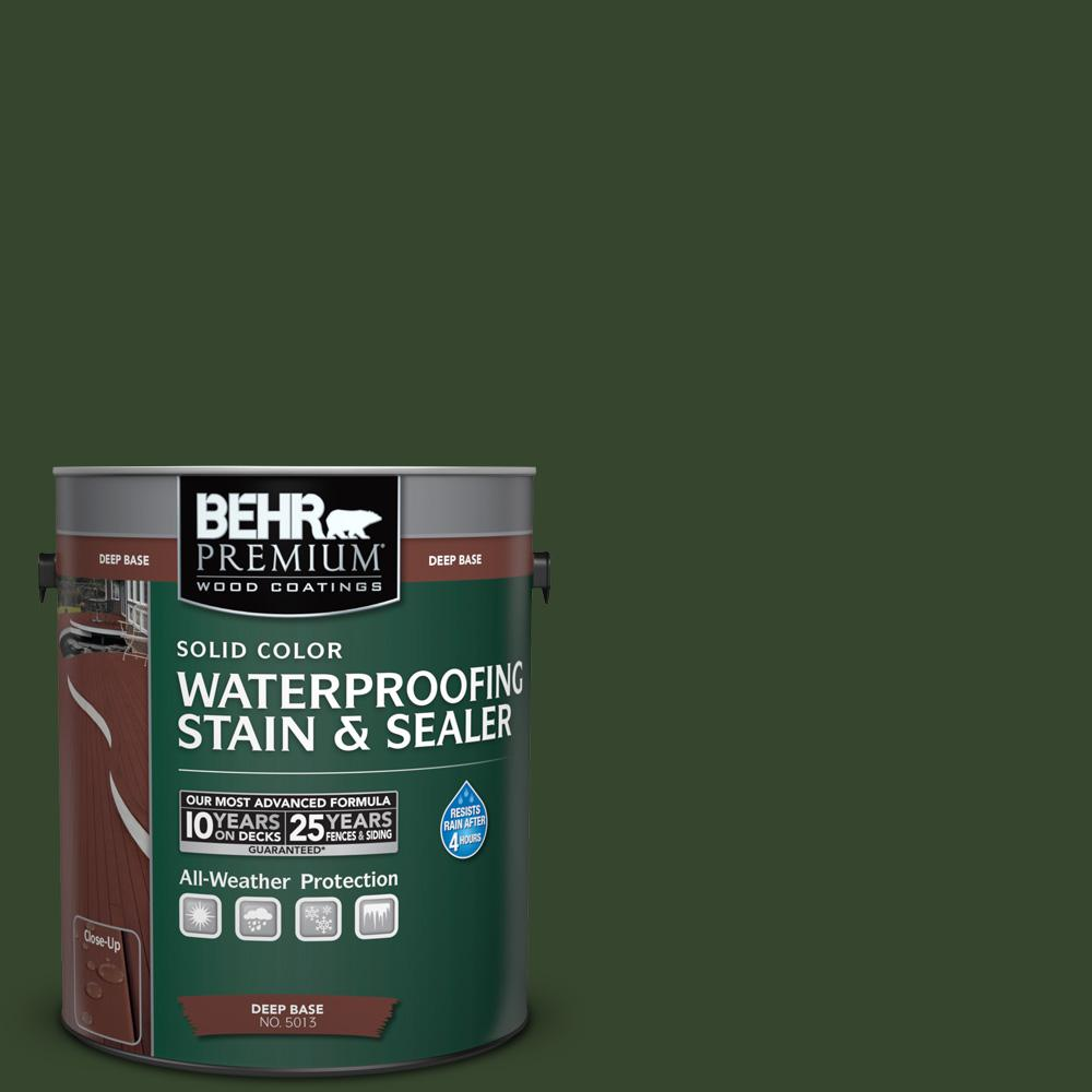 1 gal. #SC-120 Ponderosa Green Color Waterproofing Stain and Sealer
