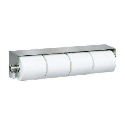 Stainless Solutions Double Post Locking Toilet Paper Holder in Steel