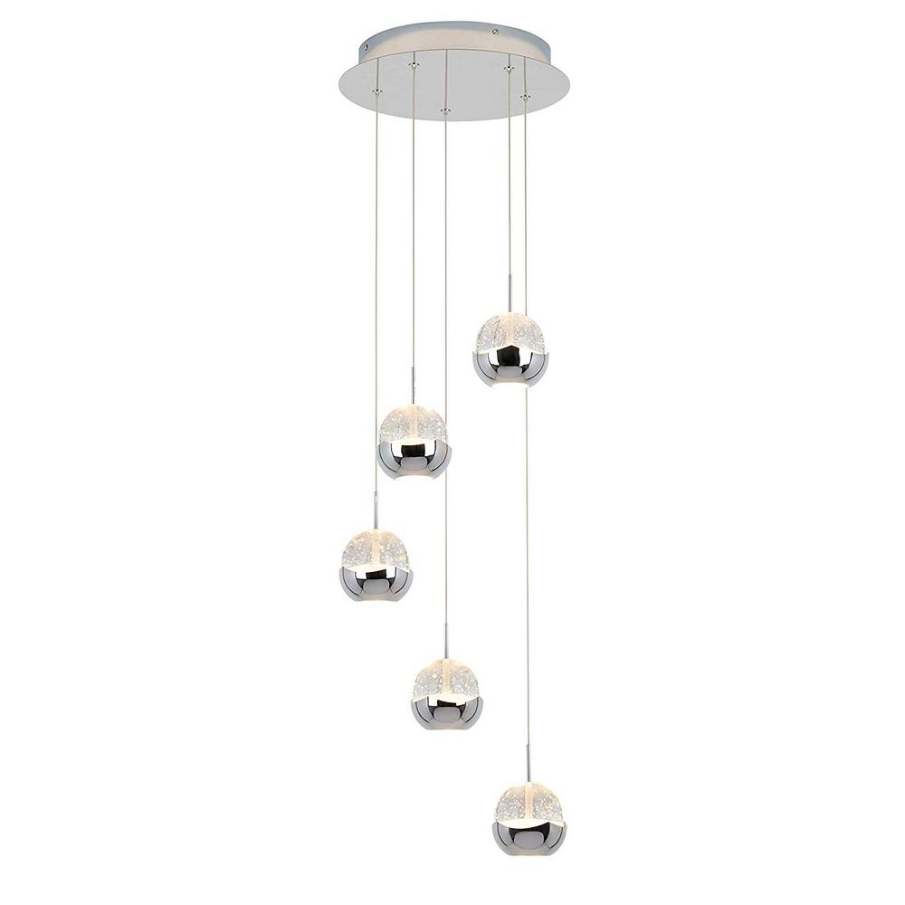 Artika Artika Oracle 22-Watt Integrated LED Chrome Pendant