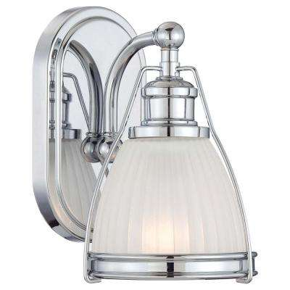 1-Light Chrome Bathroom Sconce