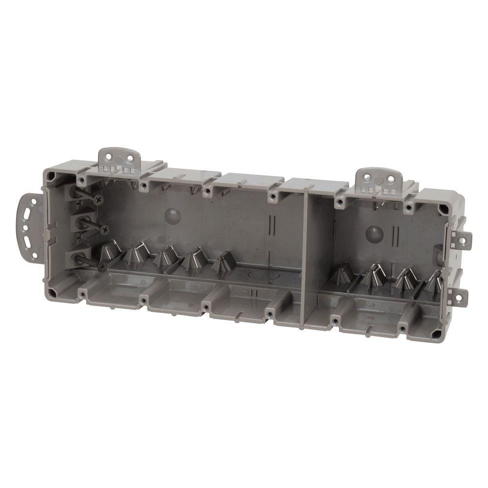 Smart Box 6-Gang Multi-Mount Adjustable Depth Device Box