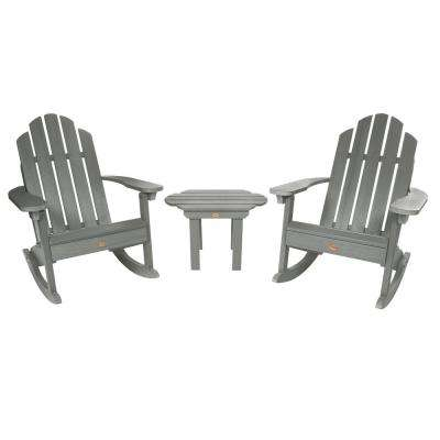 Classic Wesport Coastal Teak 3-Piece Recycled Plastic Patio Conversation Set