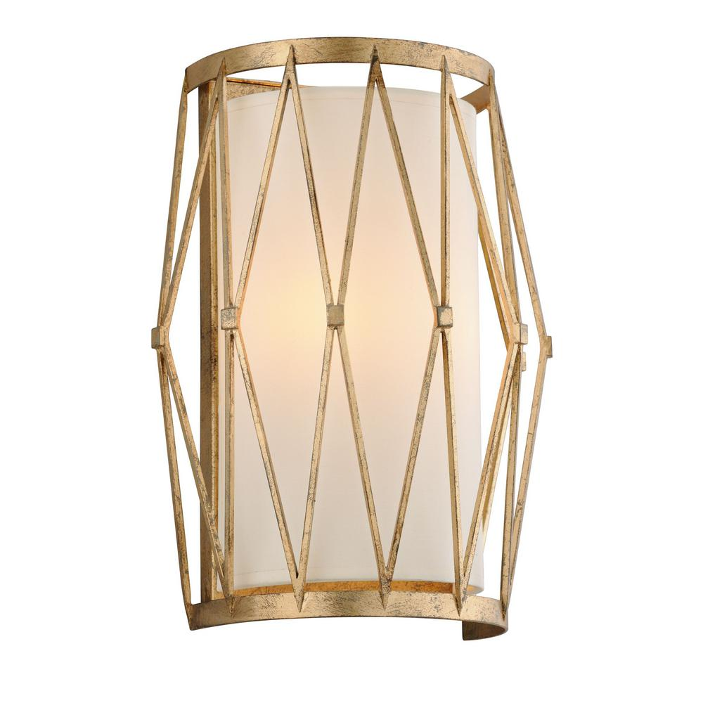 Troy Lighting Calliope 2 Light Rustic Gold Leaf Wall Mount Sconce Idea