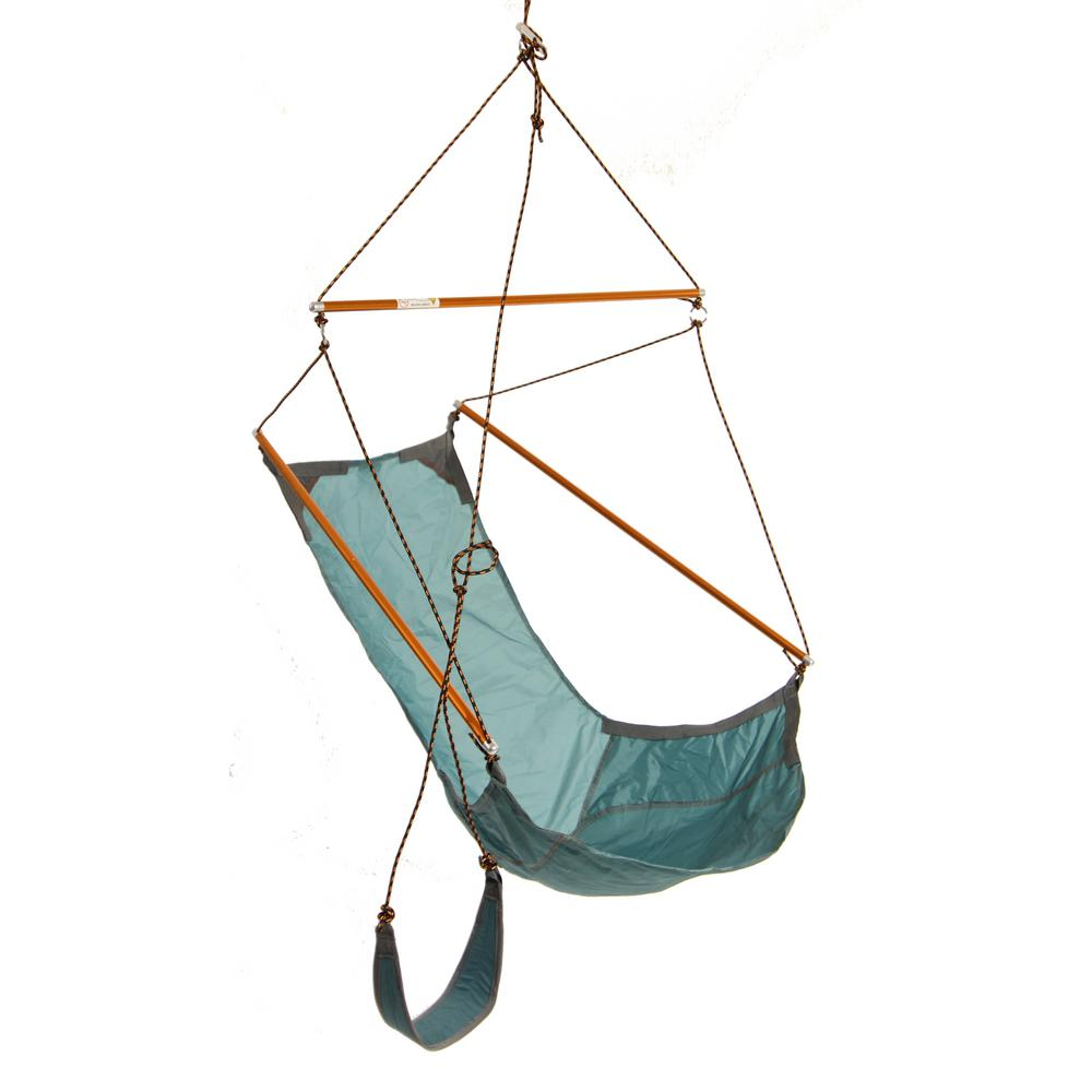 Medium image of byer of maine 4 ft  2 in  parachute nylon hang chair with hang system in green a103063   the home depot