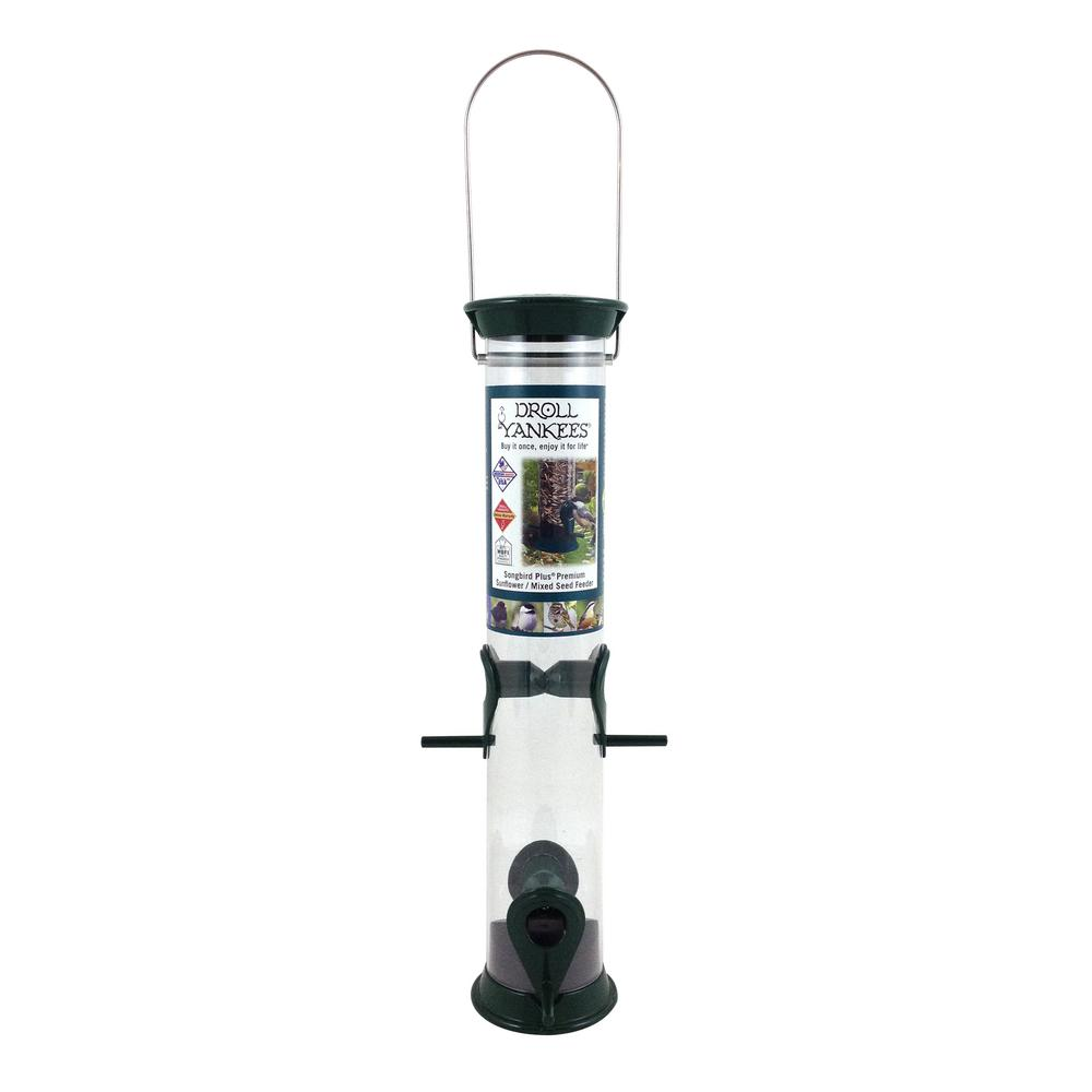 15 in. Green Tubular Sunflower Bird Feeder