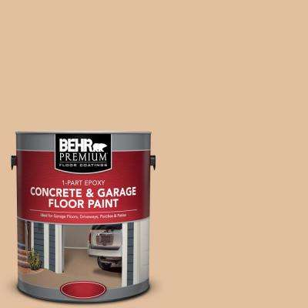 1 gal. #S270-3 Tostada 1-Part Epoxy Satin Interior/Exterior Concrete and Garage Floor Paint