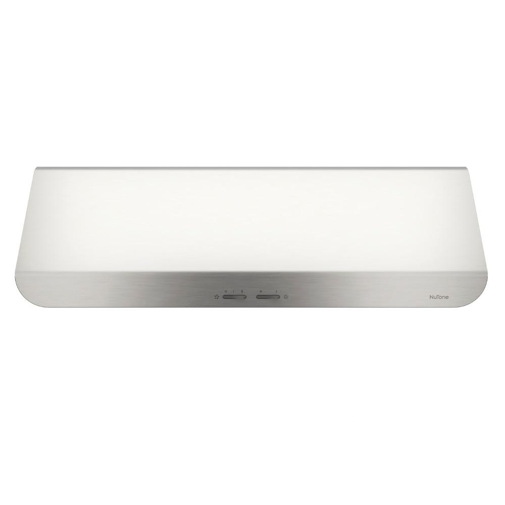 NuTone Ananda NPDP1 30 in. Convertible Under Cabinet Range Hood with Light in Stainless Steel