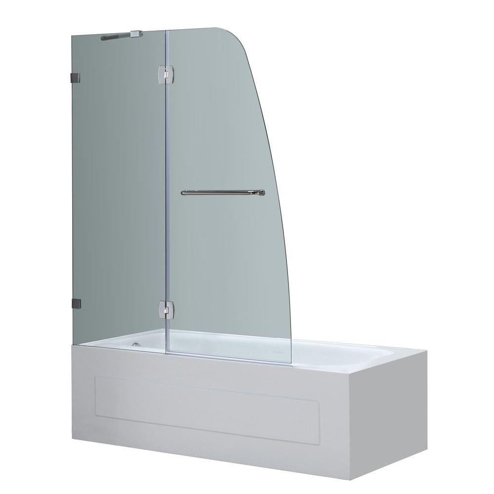 Hinged Glass Tub Enclosures : Aston soleil in completely frameless hinged
