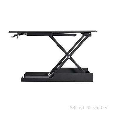 Heavy Duty Adjustable Sit and Stand Desk in Black