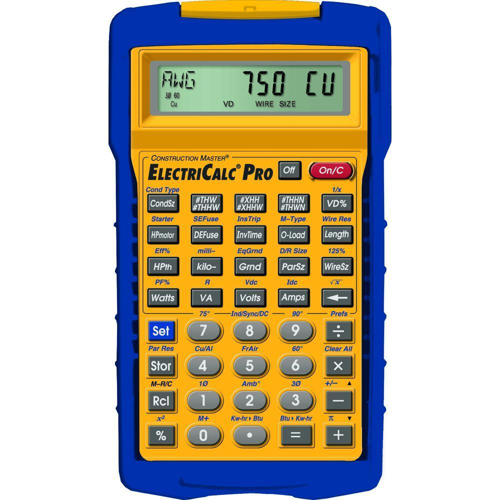 Calculated Industries ElectriCalc Pro Fully Updateable Electrical Code Calculator