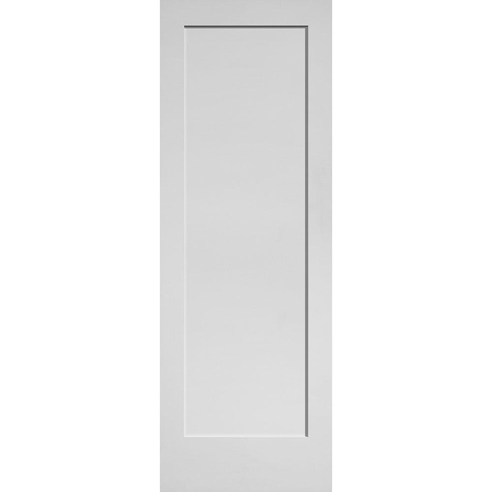 Masonite 28 In X 80 In Mdf Series Smooth 1 Panel Solid Core Primed Composite Interior Door Slab 13974 The Home Depot