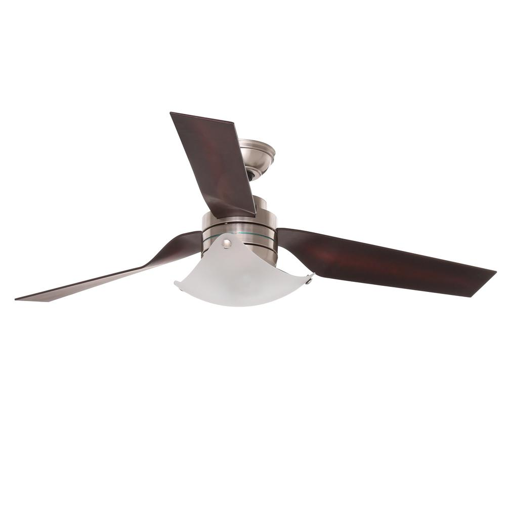 Hunter Windspan 52 in. Indoor Brushed Nickel Ceiling Fan ...