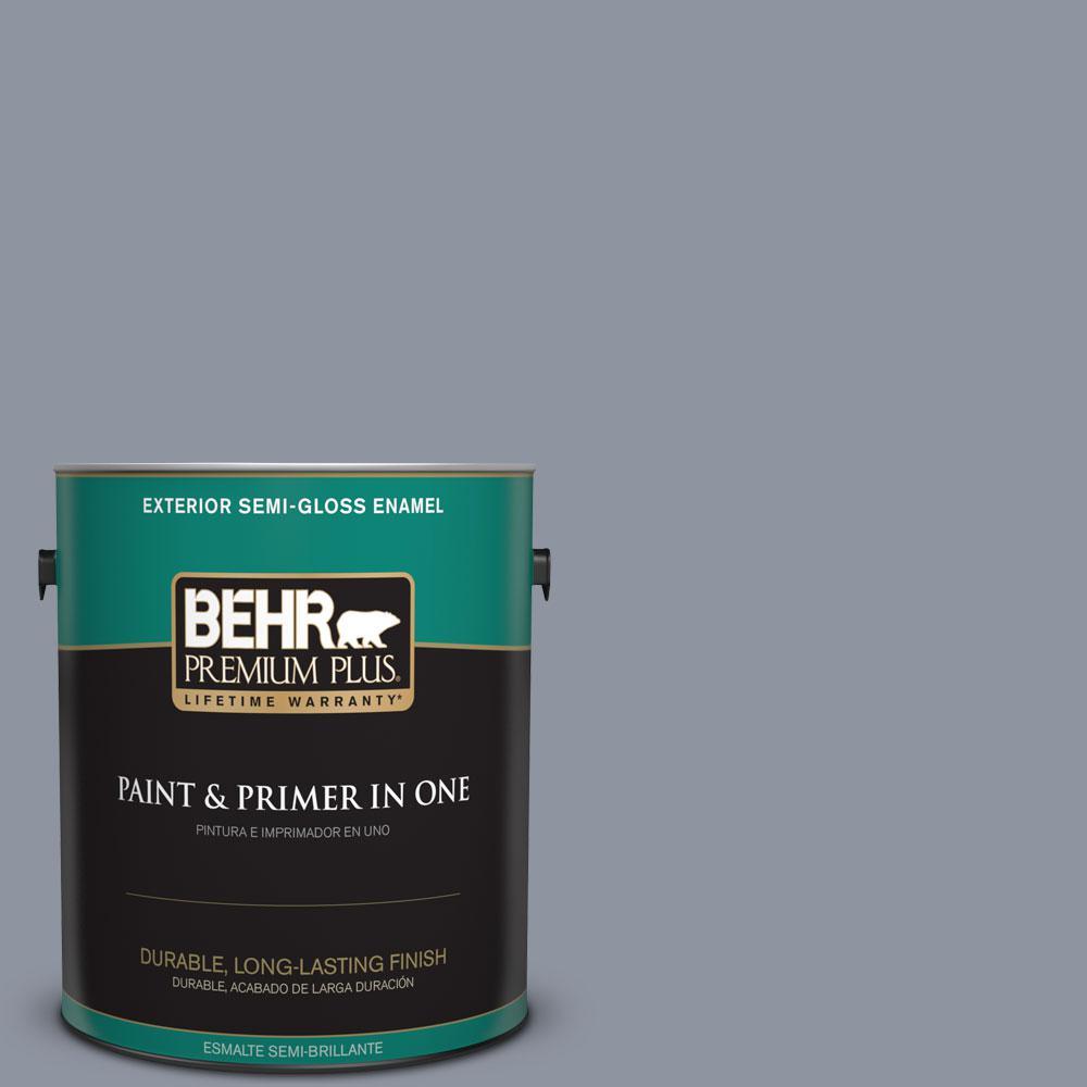 1-gal. #750F-4 Raging Sea Semi-Gloss Enamel Exterior Paint