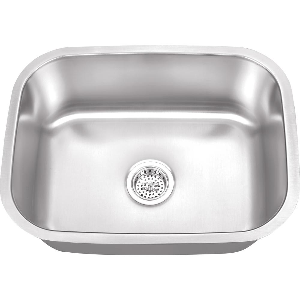 Etonnant IPT Sink Company Undermount 23 In. 16 Gauge Stainless Steel Bar Sink In  Brushed