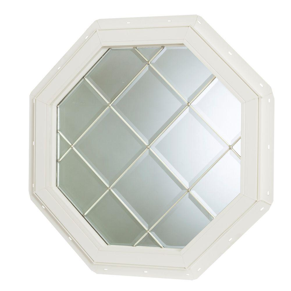 22.5 in. x 22.5 in. Fixed Octagon Geometric Vinyl Window -