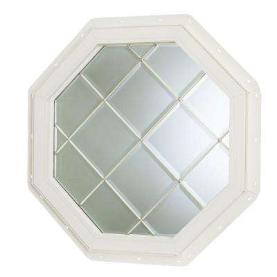 22.5 in. x 22.5 in. Fixed Octagon Geometric Vinyl Window - White