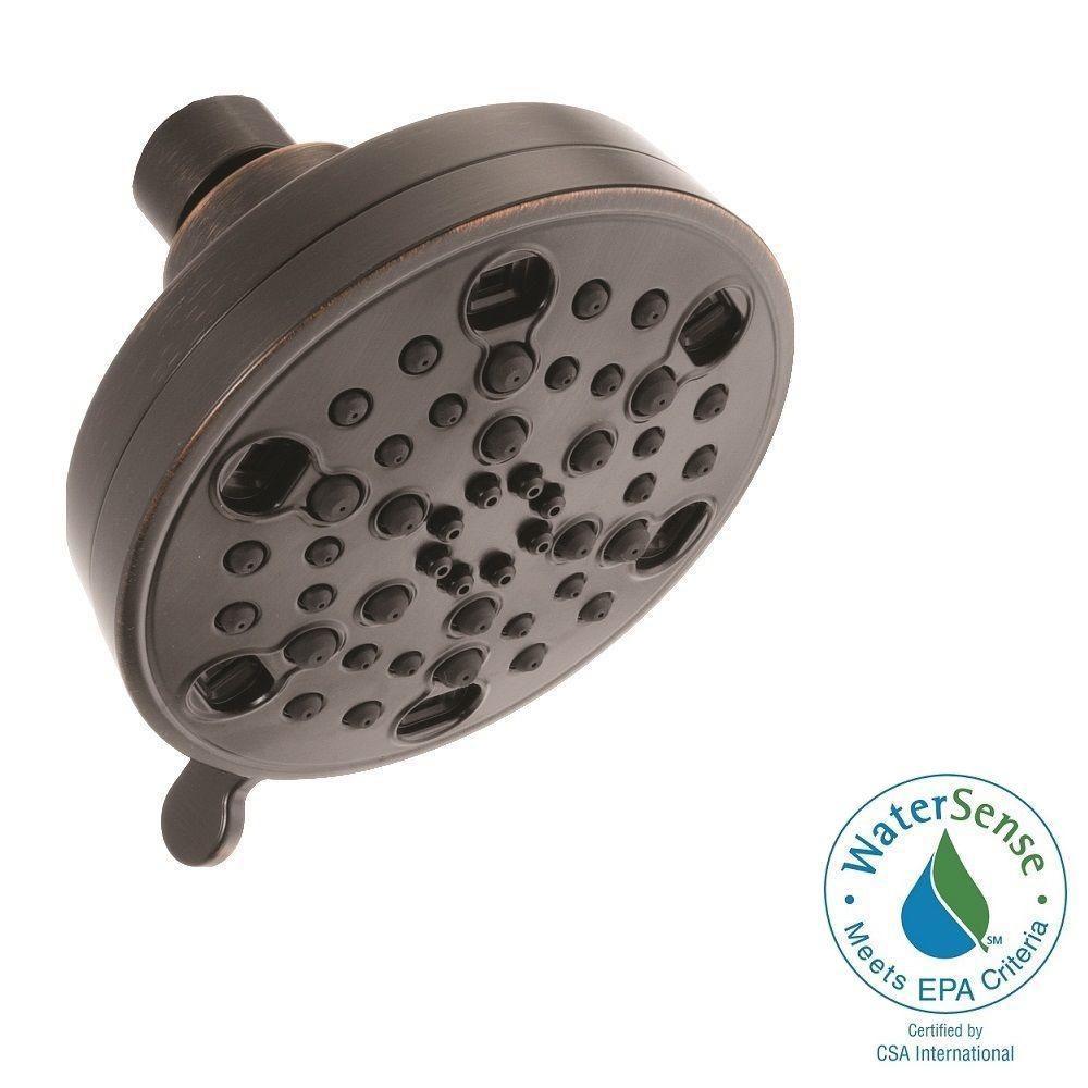 H2Okinetic 5-Spray 4.19 in. Fixed Shower Head in Venetian Bronze