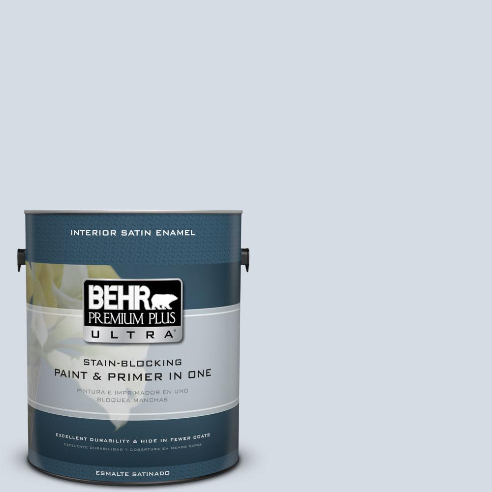 BEHR Premium Plus Ultra 1-gal. #610E-3 Drowsy Lavender Satin Enamel Interior Paint