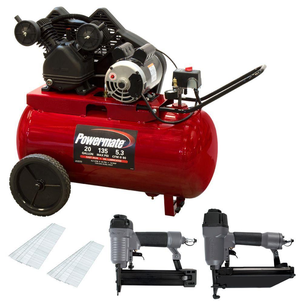 20 gal. Horizontal Portable Compressor Kit