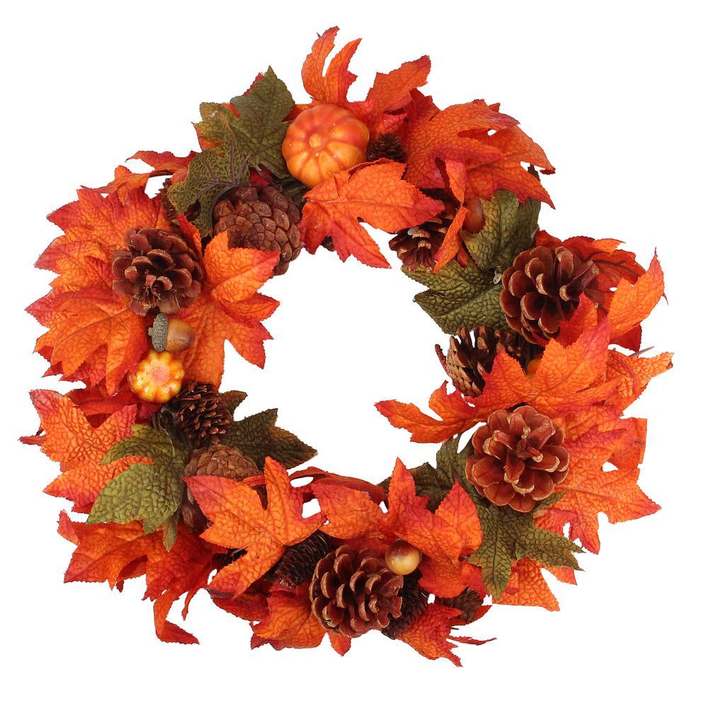 National Tree Harvest Collection Wreath 36 Orange HC7-104L-36W