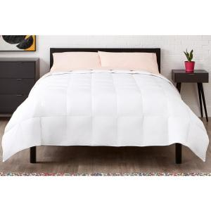 Down Feather Blend Cotton White Full/Queen Comforter