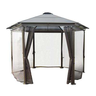 12.5 ft. x 12.5 ft. x 9.1 ft. Aluminium Hard Top Gazebo