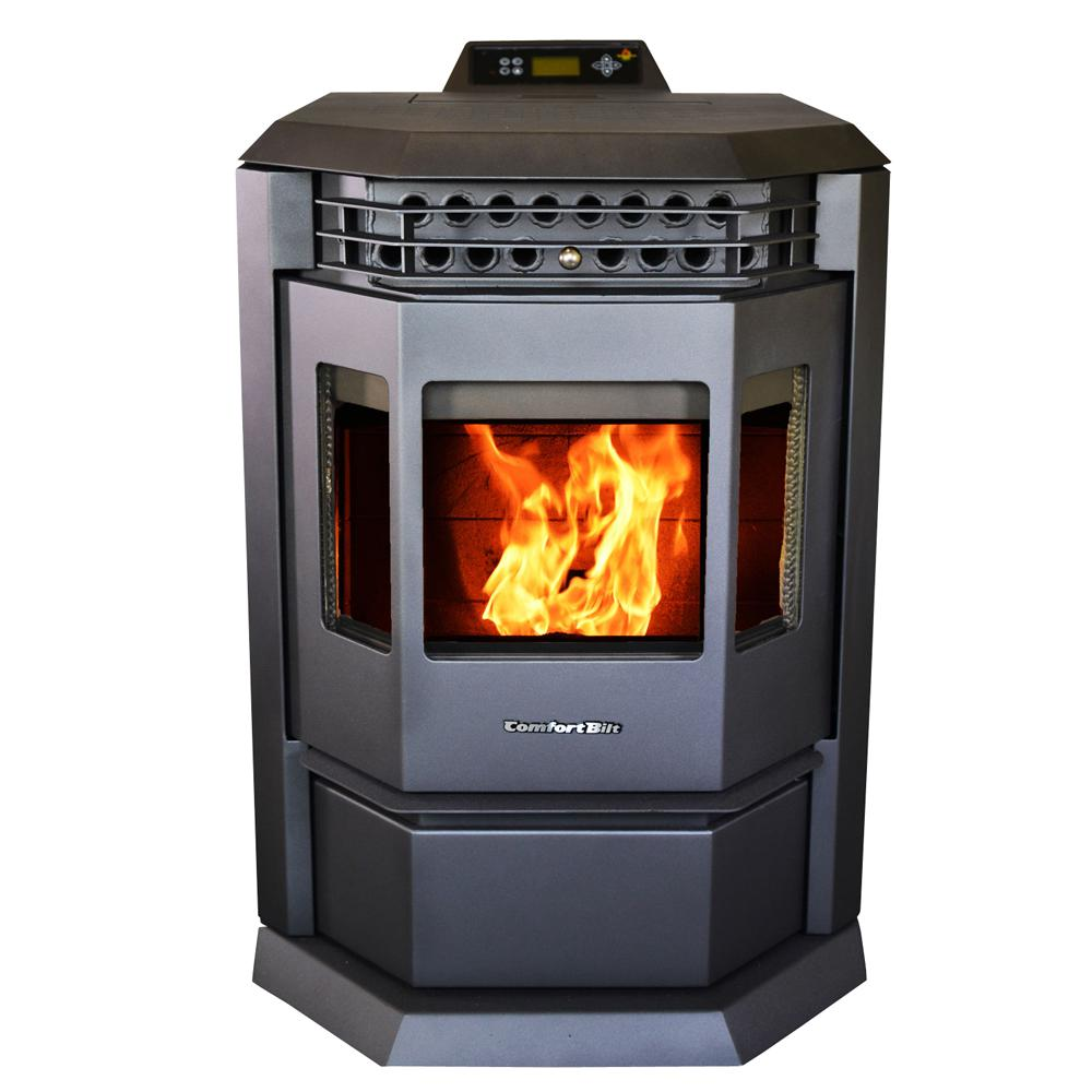 ComfortBilt 2,800 sq. ft. EPA Certified Pellet Stove with 55 lbs. Hopper and Auto Ignition