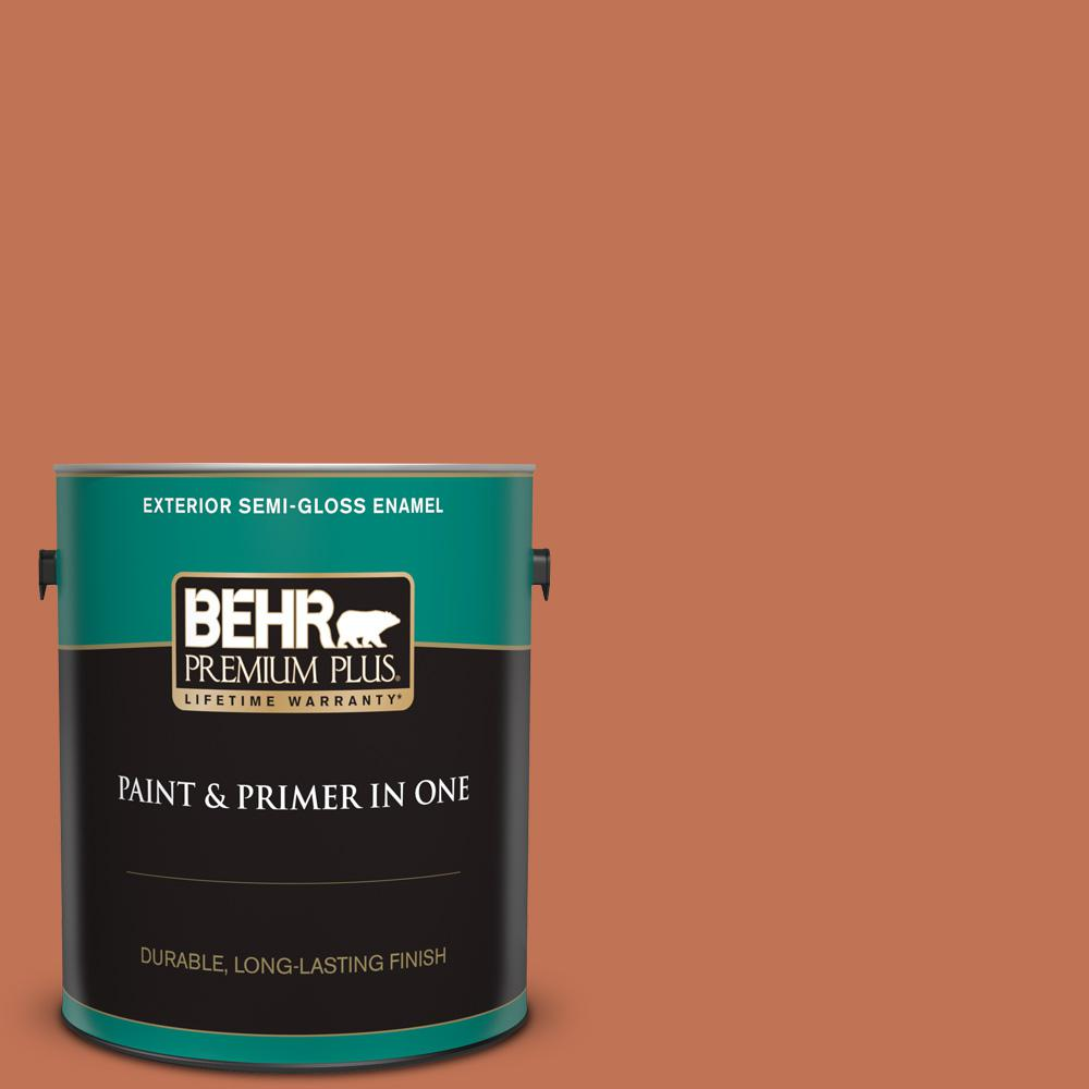 Behr Premium Plus 1 Gal M200 6 Oxide Semi Gloss Enamel Exterior Paint And Primer In One 534001 The Home Depot