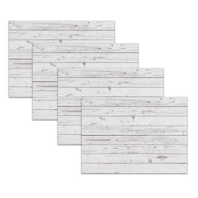Whitewashed Barn Taupe Polypropylene Placemat Set (4-Pack)