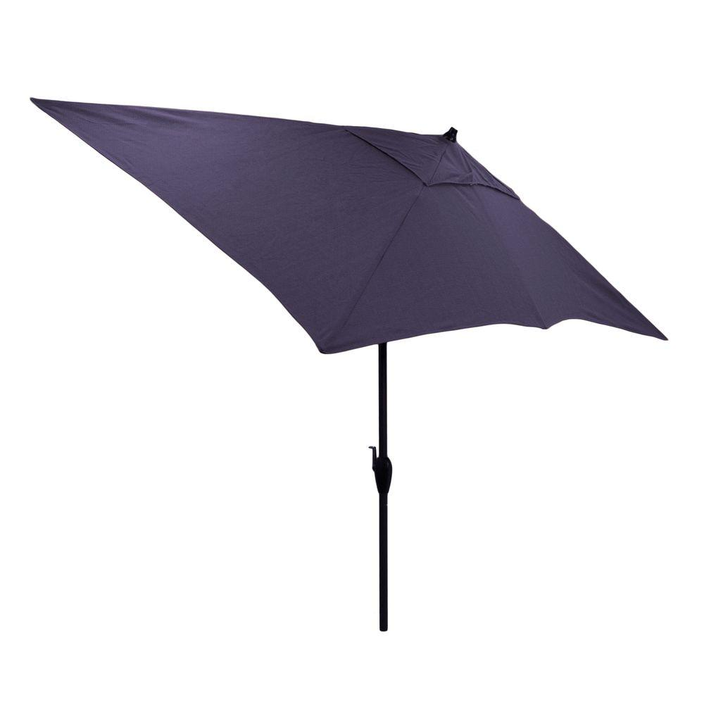 Rectangular Aluminum Market Patio Umbrella In Navy